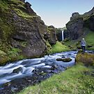 me myself and the waterfall by JorunnSjofn Gudlaugsdottir