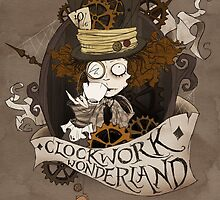 The Mad Hatter - Clockwork Wonderland by Fairytale Illustration