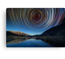 Queenstown star trails reflection Canvas Print