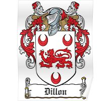 Dillon Coat of Arms (Westmeath, Ireland) Poster