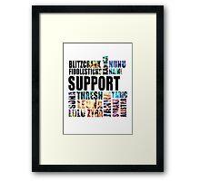 Support [Black Text] Framed Print