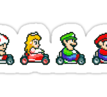Kart Racing - Mario Kart 16bit Sticker
