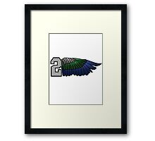 Couple / Buddy / Matching 12th Man Seahawks - Right Side 2 Hawks Wing (SSH-000005) Framed Print