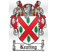 Keating Coat of Arms (Irish) Poster