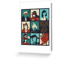 Final Fantasy VII - Characters Greeting Card