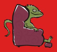 the comfy bearded dragon Kids Clothes