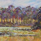 Egrets & Lilies by Terri Maddock