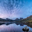 Dove Lake Boatshed Panorama by Mieke Boynton