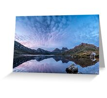 Dove Lake Boatshed Panorama Greeting Card