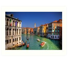 Light Traffic on the Grand Canal Art Print