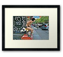 ESCAPE FROM NEW YORK TARZAN Framed Print
