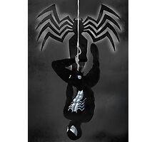 Black Suit Spiderman Photographic Print