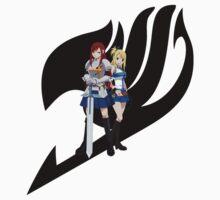 Fariy Tail Anime Erza & Lucy  [Black] by Jonathan Masvidal
