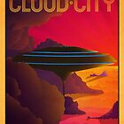 Cloud City Retro Travel Poster by Zigzugzwang