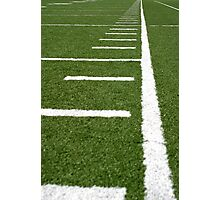 Football Lines Photographic Print