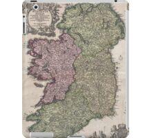 Vintage Map of Ireland (1716)  iPad Case/Skin