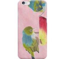 "AndreaEL's ""Holding the Apple Up!"" in Pastel...  (Wax Eye NZ – Southland) iPhone Case/Skin"