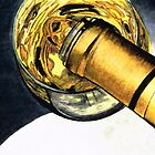 White Wine Art - Lap Of Luxury - By Sharon Cummings by Sharon Cummings