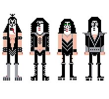 Pixel Kiss Rock Band by Sergei Vozika
