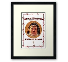 WAS - Warrior Woman Framed Print