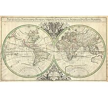 Vintage Map of The World (1691) Photographic Print
