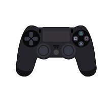 This Is For The Players - PS4 Controller Black by Joren Engbers