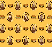 Bob's Burgers Beefsquatch and Burgers Pattern by LaurArt