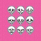 Skull Feels (Pink Version) by blacklilypie