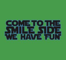 Come to the Smileside (blue black)  Kids Clothes