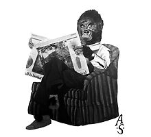 Armchair gorilla - B&W by acousticsound