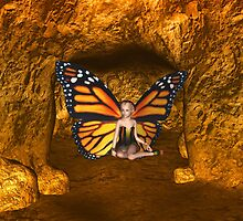 Cave Dweller Butterfly Fairy Elf Fantasy  by Diane Leenknegt