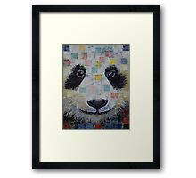 Panda Checkers Framed Print