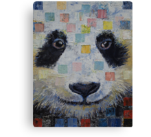 Panda Checkers Canvas Print