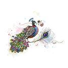 Royale Paisley Peacock by © Karin  Taylor