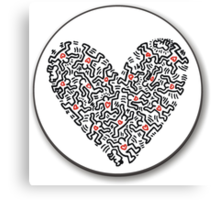 Keith Haring Heart Canvas Print