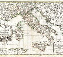 Vintage Map of Italy (1770)  by BravuraMedia