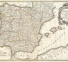 Vintage Map of Spain (1775)  by BravuraMedia