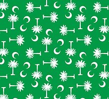 Palmetto Moon Pattern Green  by Carolina Swagger