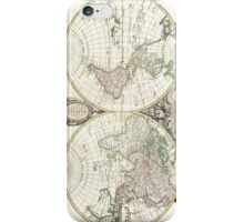 Vintage Map of The World (1775) iPhone Case/Skin
