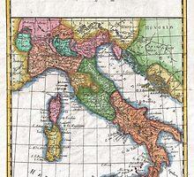 Vintage Map of Italy (1780) by BravuraMedia