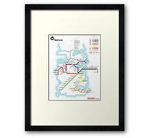 Game of Thrones - Metroros System Map Framed Print