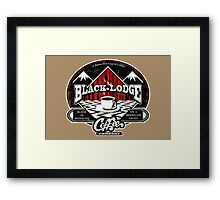 Black Lodge Coffee Company (distressed) Framed Print
