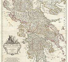 Vintage Map of Greece (1794)  by BravuraMedia