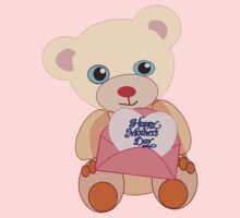 Teddy with mother's day message (4430 views) by aldona