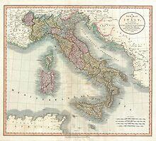 Vintage Map of Italy (1799)  by BravuraMedia