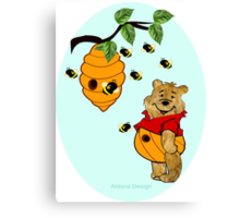 Pooh Bear takes care of his tummy (6599  Views) Canvas Print