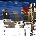Blue Boat Reflections by Marilyn Harris