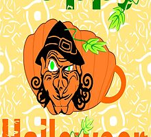 Halloween Card :Pumpkin Shape Mug (6286  Views) by aldona