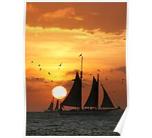 Sunset Sail in Key West II Poster
