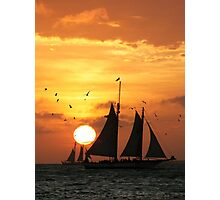 Sunset Sail in Key West II Photographic Print